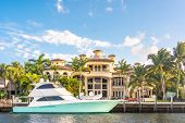 Luxury Waterfront Mansion In Fort Lauderdale Florida poster