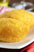 Comida peruana llamado Papa Rellena