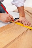 Measuring Laminate Flooring Planks