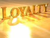 Loyalty 3D texto de oro