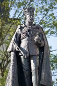 stock photo of sceptre  - Statue of the former King of England Edward VII (1841 - 1910) in Reading, Berkshire.   Sculpted by George Wade and on public display since 1902.