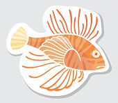 Vector color fish.