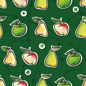 seamless texture of apples and pears