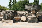 Eagle Statues In Zvartnots