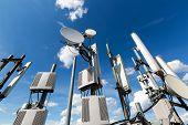 Metal Constructions For Telecommunication Data Equipment , Radio Panel Antennas, Outdoor Remote Radi poster