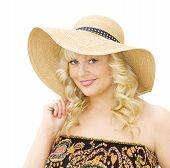 Summer Vacations - Woman Wearing Straw Hat