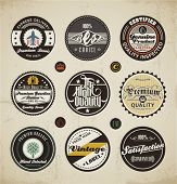 pic of gasoline station  - Retro Badges and Labels set - JPG