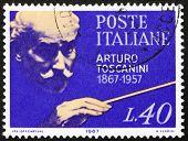 Selo postal Itália 1967 Arturo Toscanini, maestro