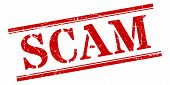 Scam Stamp. Scam Square Grunge Sign On White Background poster