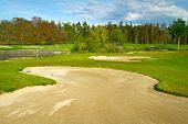 Irish idyllic golf course with sandbanks