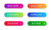Set Of Modern Button For Infographic, Web, Modile, Game. Colorful Call Action Icon. Template Gradien poster