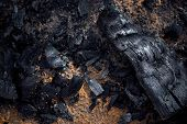 Texture Of The Extinct Embers Of A Fire poster