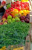 picture of farmers market vegetables  - Fruit and Vegetables at the Farmers Market - JPG