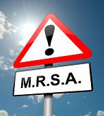 picture of mrsa  - Illustration depicting a red and white triangular warning sign with a  - JPG