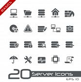 stock photo of mainframe  - Server Icons  - JPG
