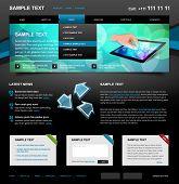 Editable Website Template 4. Color variant 5 (Blue on Dark)