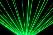 Green Laser Show Nightlife Club Stage And Shining Sparkling Rays. Luxury Entertainment In Nightclub  poster