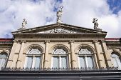 stock photo of pilaster  - Front of National Theater building in San Jose Costa Rica - JPG