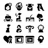 picture of vagina  - Women Health Care Icons - JPG