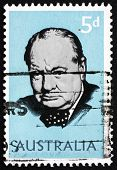 Postage Stamp Australia 1965 Sir Winston Spencer Churchill