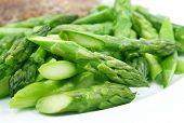 Cooked Asparagus Closeup poster