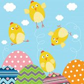 Happy Easter Newborn Baby Chicks