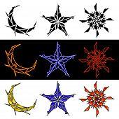 Celestial Designs In Three Styles