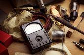 stock photo of potentiometer  - Vintage electronics - JPG