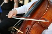 stock photo of orchestra  - Details of American wedding ceremony - JPG