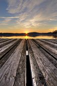 stock photo of assis  - Lines and colors over the Varese lake - JPG