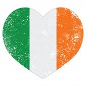Ireland heart retro flag - St Patricks Day