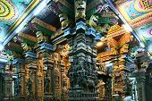 Madurai Tamil Nadu India March 10 2011. Inside of Meenakshi hindu temple