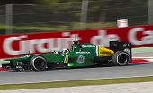 Formula One Teams Test Days At Catalunya Circuit