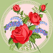 Red Roses And Wild Flowers