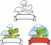 Chef Crocodile Banners.Collection