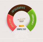 Modern circle infographic template for business design