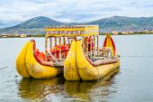 The floating and tourist Islands of lake Titicaca