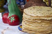 Shrovetide Pancakes On A Festive Table