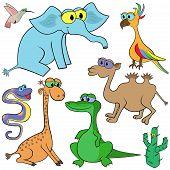 Satz von Cartoon-Tiere-Vektor-illustration