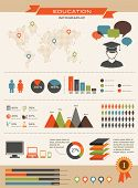 foto of mathematics  - Education info graphics vintage design - JPG