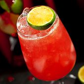 Zombie Cocktail - Dark and Light Rums, 151-proof Rum and Various Syrup, Grenadine, Grapefruit Juice,