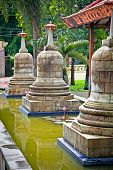 Ancient stupas in Prambanan temples complex near to Yogyakarta on Java, Indonesia.