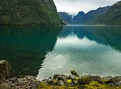 Lake Oldenvatnet In Norway