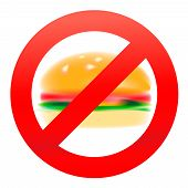 Unhealthy food, hamburger