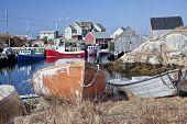 The small fishing village and tourism destination of Peggy's Cove, Nova Scotia, Canada.