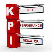 3D Modern Signboard Of Kpi