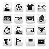 foto of offside  - Football modern black icons set with reflection isolated on white - JPG
