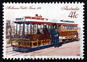 Postage Stamp Australia 1989 Melbourne Cable Car, 1886