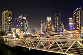 DUBAI, UAE - OCTOBER 23: View of the region of Dubai - Dubai Marina is an artificial canal city, car