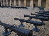 Historic Cannon On The Square In Museum Les Invalides, Paris